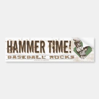 ¡Tiempo del martillo! Bumpersticker Etiqueta De Parachoque