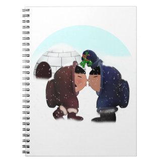 Tiempo del muérdago - beso del muérdago cuaderno