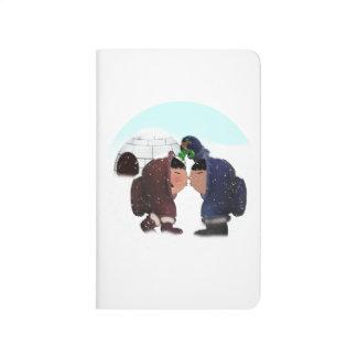 Tiempo del muérdago - beso del muérdago cuadernos grapados