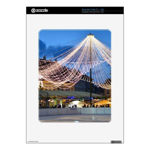 Tiempo del navidad de Sibiu Calcomanías Para iPad