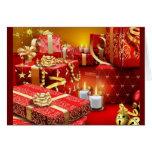 Tiempo del navidad tarjeta