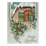 Tiempo del navidad tarjetas postales