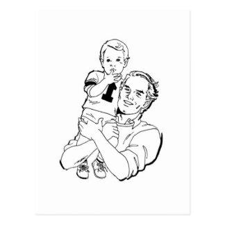 Tiempo del padre y del hijo tarjetas postales