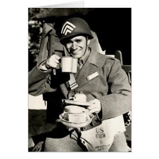 Tiempo del perro chino de WWII Felicitaciones