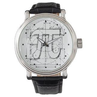 Tiempo del pi relojes de pulsera