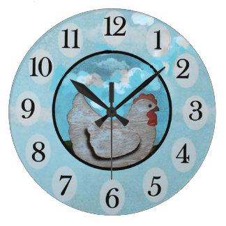 Tiempo del pollo/reloj de pared