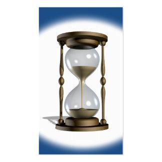 Tiempo del reloj de arena tarjetas de visita