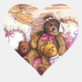 Tiempo del Snuggle Pegatina En Forma De Corazón