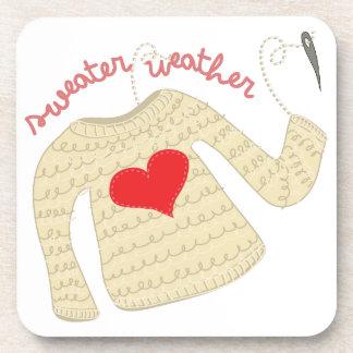 Tiempo del suéter posavasos