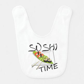 Tiempo del sushi babero de bebé