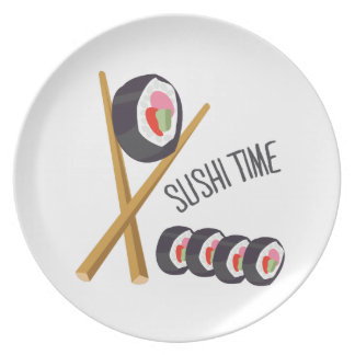 Tiempo del sushi plato