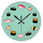 ¡Tiempo del sushi! Reloj de pared enrrollado (de l