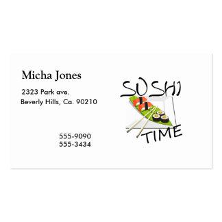 Tiempo del sushi tarjetas de visita