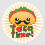 Tiempo del Taco Etiqueta Redonda