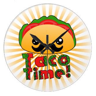 Tiempo del Taco Reloj Redondo Grande