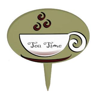 Tiempo del té decoración para tarta