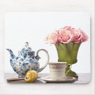 Tiempo del té alfombrilla de raton
