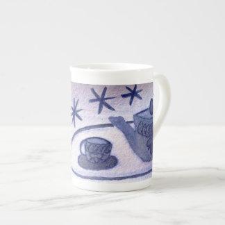 … tiempo del té… arte de Jutta Gabriel… Taza De Porcelana