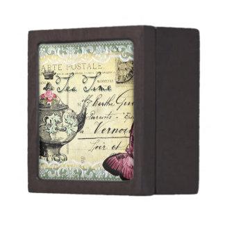Tiempo del té cajas de joyas de calidad