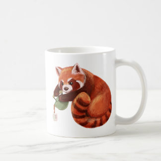 Tiempo del té de la panda roja taza de café