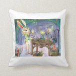 Tiempo del té del alquimista del conejo en la luna almohadas