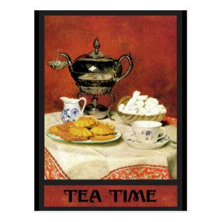 Tiempo del té del ~ de Albert Samuel Anker Postales