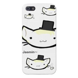 Tiempo del té del gorra de Jasmin~Top iPhone 5 Fundas