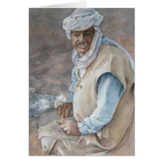 Tiempo del té en el desierto tarjeta de felicitación