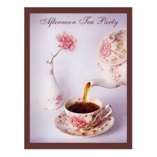 Tiempo del té, fiesta del té de la tarde tarjetas postales