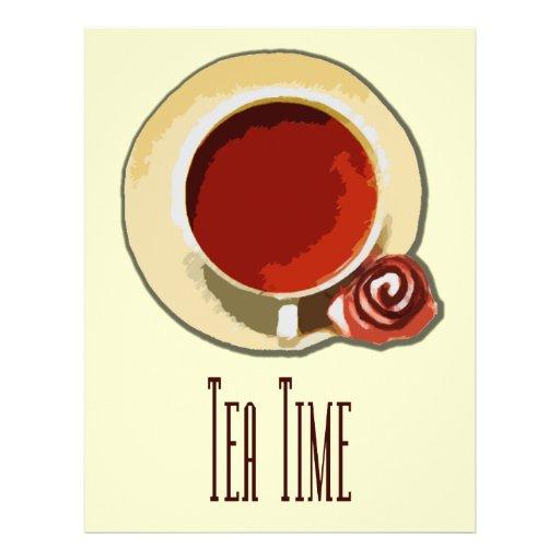 Tiempo del té tarjetas publicitarias