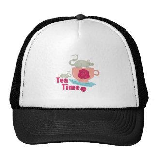 Tiempo del té gorro de camionero