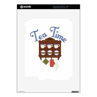 Tiempo del té iPad 2 calcomanía