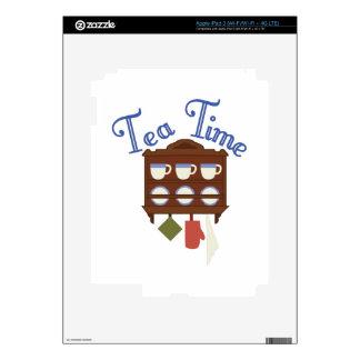Tiempo del té iPad 3 pegatina skin