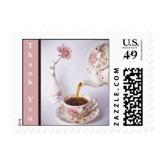 Tiempo del té pequeño, gracias estampilla