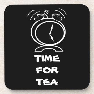 Tiempo del té posavaso
