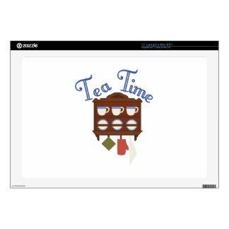 Tiempo del té skins para portátil