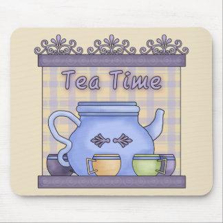 Tiempo del té tapetes de raton