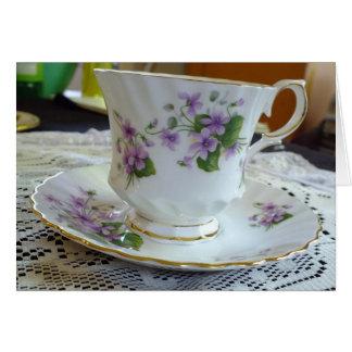 Tiempo del té - tarjeta de la taza de té de las