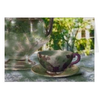 Tiempo del té tarjeta pequeña