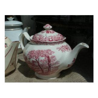 Tiempo del té - tetera inglesa - postal