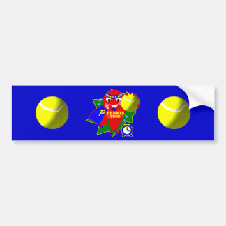 Tiempo del tenis del tiempo de la bomba pegatina de parachoque