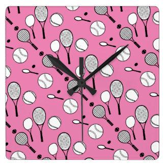 tiempo del tenis reloj de pared