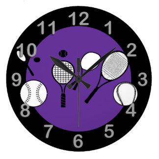 Tiempo del tenis relojes de pared