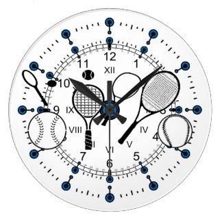 tiempo del tenis reloj redondo grande