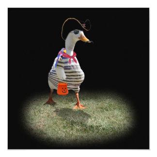 Tiempo del truco o de la invitación para el pato invitación 13,3 cm x 13,3cm
