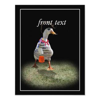 Tiempo del truco o de la invitación para el pato invitación 10,8 x 13,9 cm