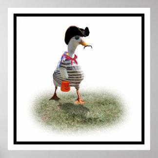 Tiempo del truco o de la invitación para el pato d póster