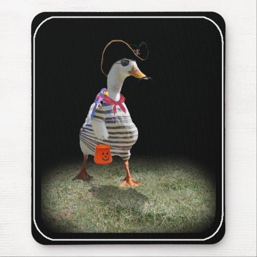 Tiempo del truco o de la invitación para el pato d alfombrilla de ratón