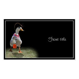 Tiempo del truco o de la invitación para el pato d plantilla de tarjeta personal