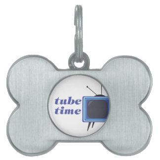 Tiempo del tubo placa mascota